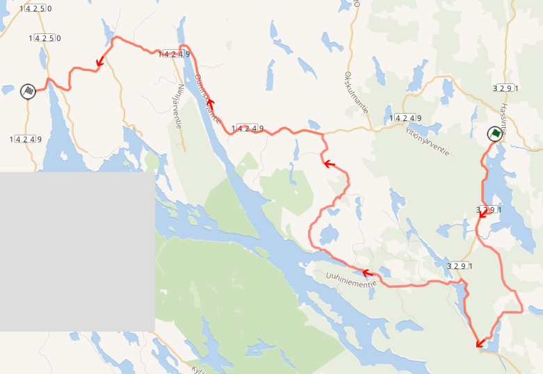 SS22 Konivuori on rally-maps.com